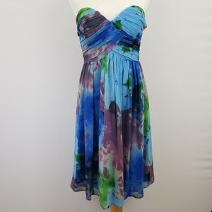 Donna Morgan Multi-Color Strapless Dress